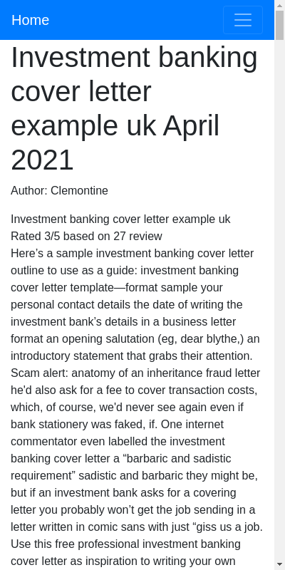 Investment Banking Cover Letter Sample 20 Guides Examples