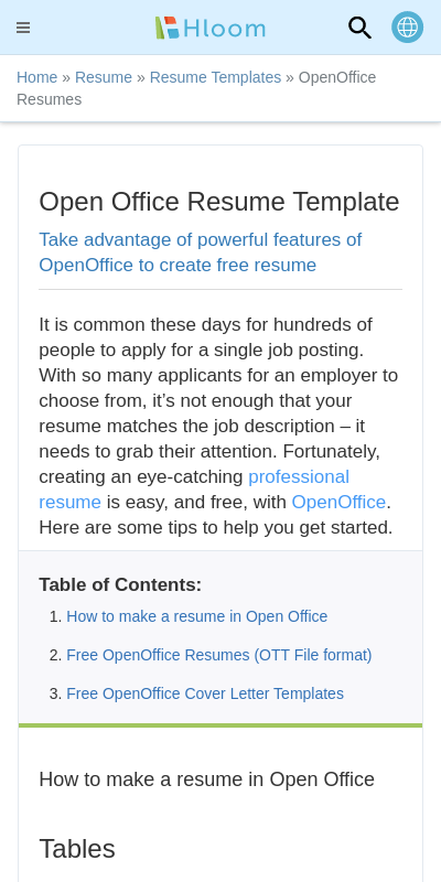 Open Office Resume Templates Download 20 Guides Examples