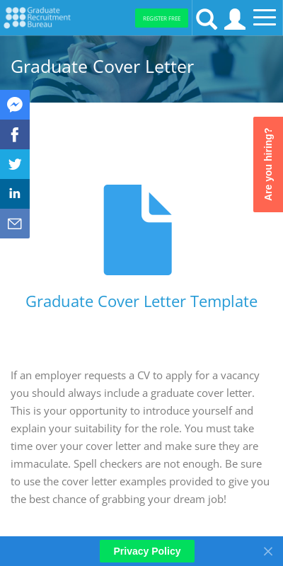 Cover Letters For Graduate School 20 Guides Examples