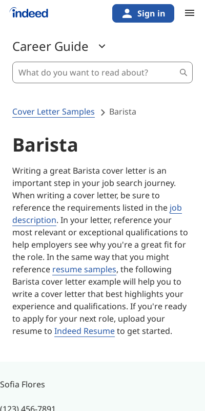 Cover Letter For Barista Position 20 Guides Examples