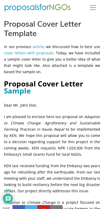 Cover Letter For Project Proposal 20 Guides Examples