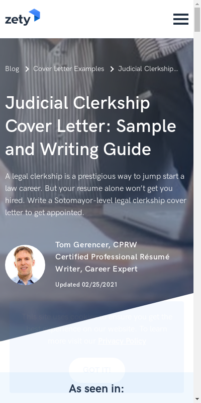 Judicial Clerkship Cover Letter 20 Guides Examples