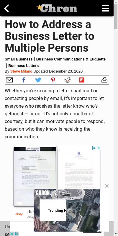 Business Letter To Multiple Recipients
