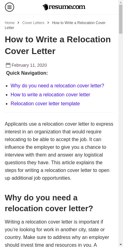 Sample Cover Letters For Relocating 20 Guides Examples