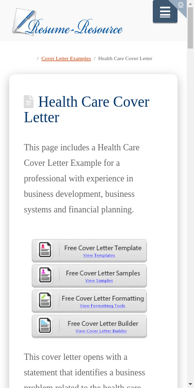 Healthcare Manager Cover Letter 20 Guides Examples
