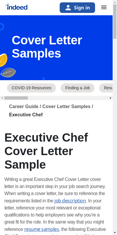 How To Write A Cover Letter For A Chef Job Primary Portraits Most Valued